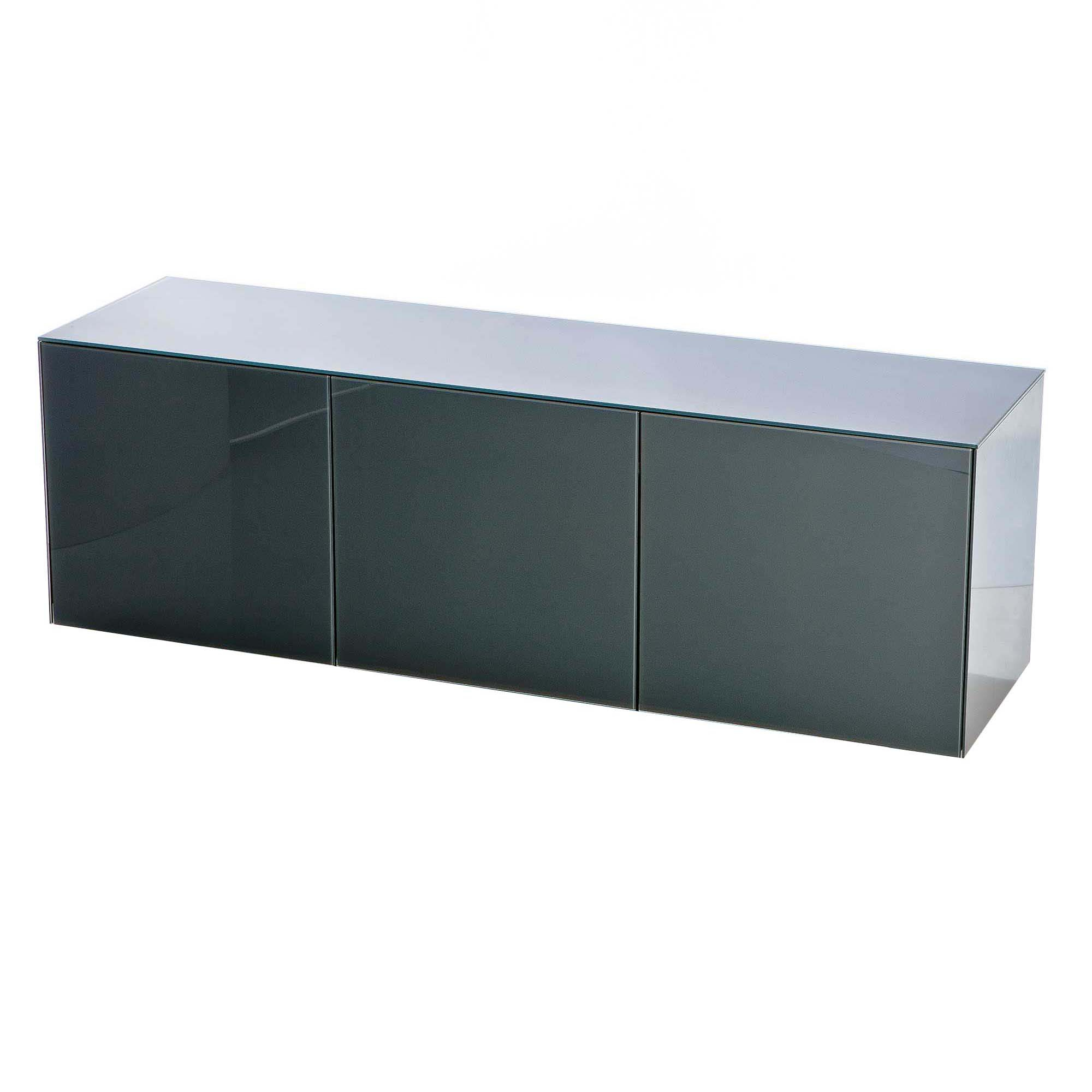 Glass Tv Cabinets With Doors Within Well Known Intelligent Concept 150Cm High Gloss 3 Door Tv Unit, Choice Of (View 7 of 20)