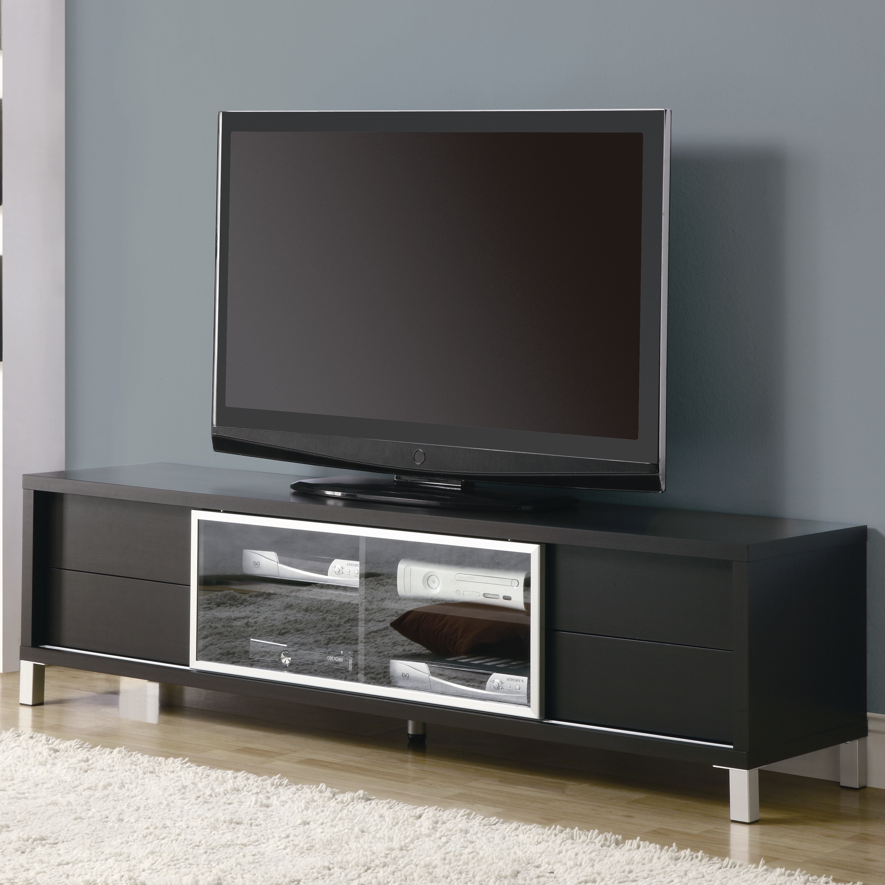 Glass Tv Stand Target High Gloss Unit With Led Lights All Modern 60 Inside Recent All Modern Tv Stands (View 13 of 20)