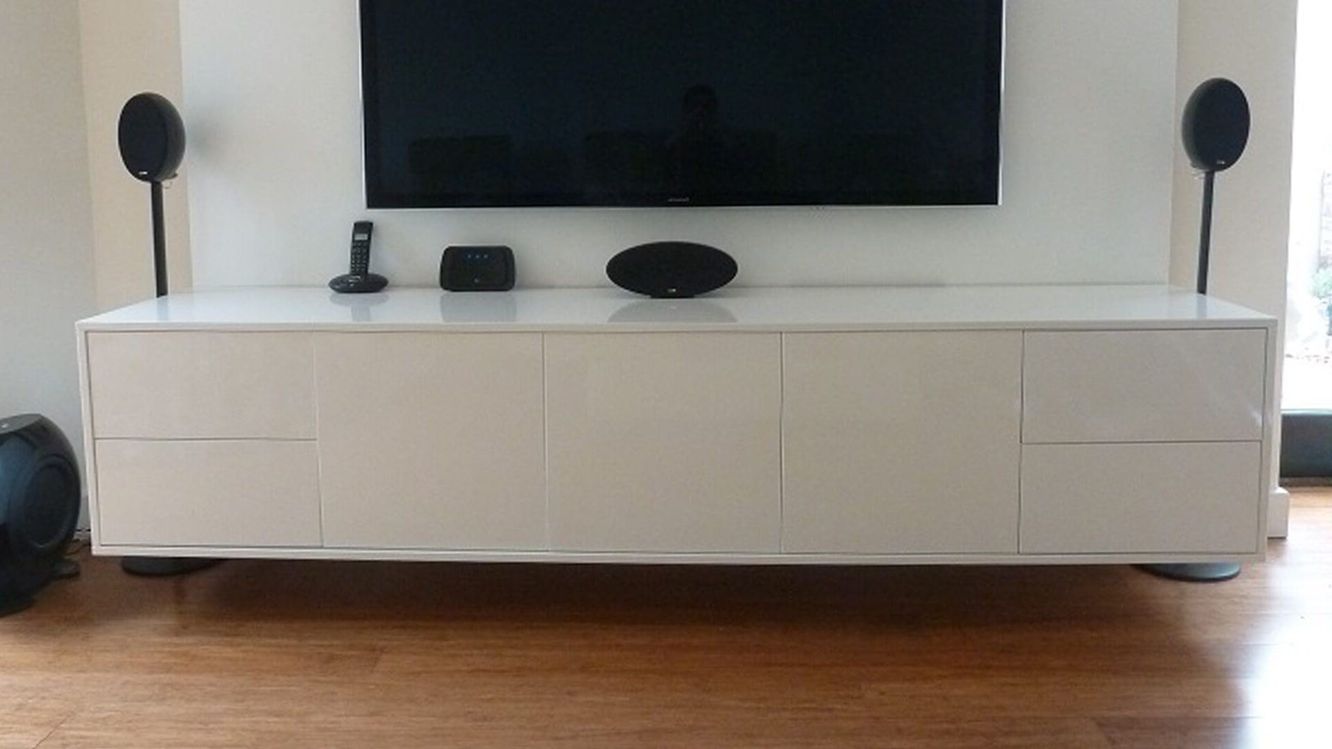 Gloss Tv Stands In Well Known Wall Mounted Contemporary White Gloss Tv Unit. This Floating Tv Unit (Gallery 11 of 20)
