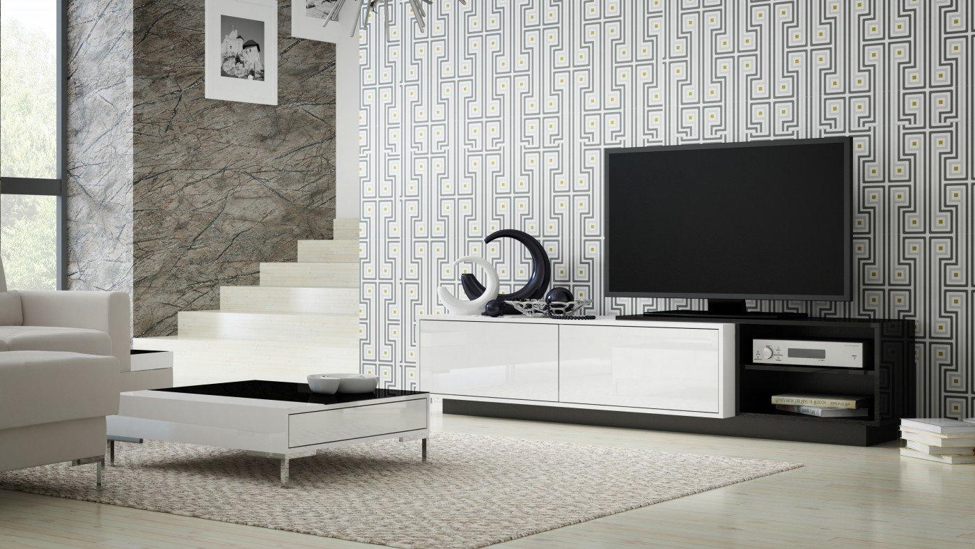 """Gloss Tv Stands Inside Most Recent Orren Ellis Tysen High Gloss Tv Stand For Tvs Up To 60"""" & Reviews (View 16 of 20)"""