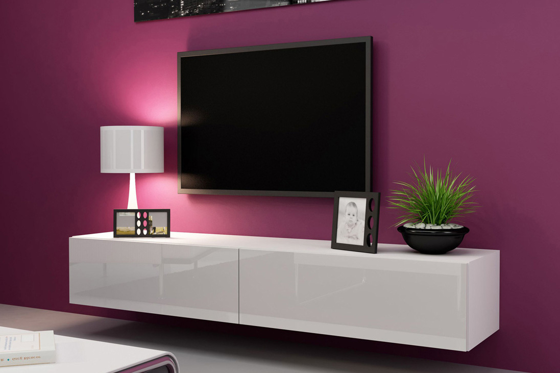 Gloss White Tv Cabinets Regarding Fashionable News ― Euro Interiors Ltd (View 18 of 20)