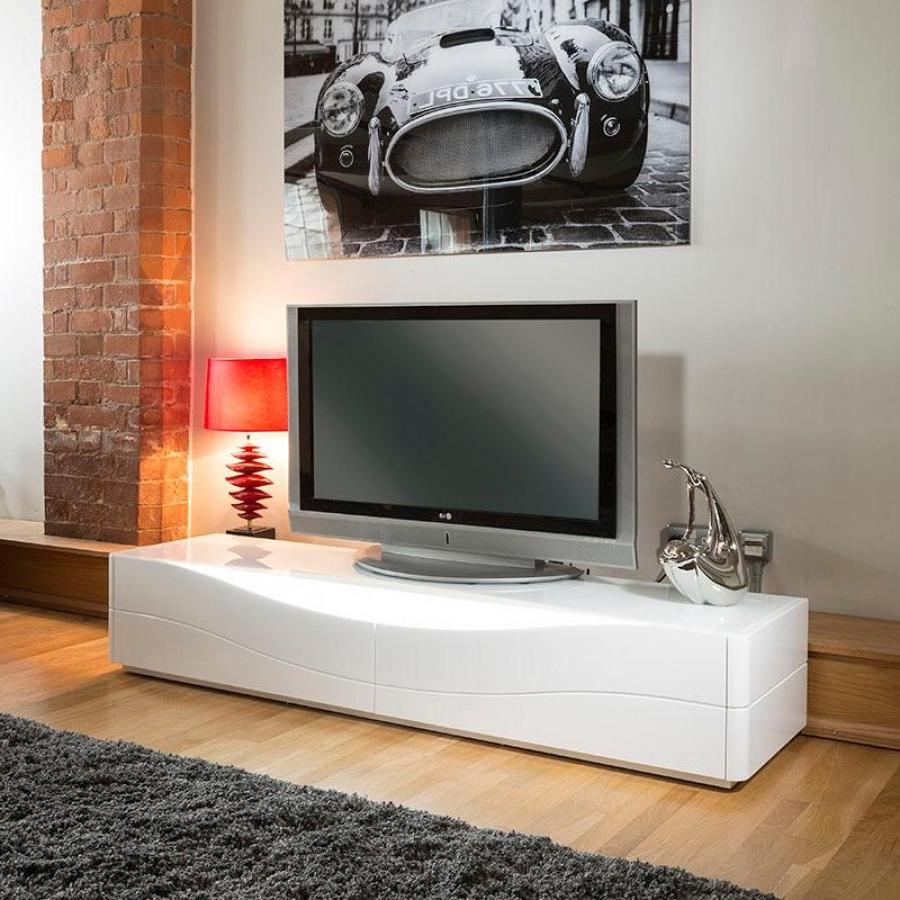 Glossy White Tv Stands With Best And Newest Led Tv Stand Glossy White Hidden Cabinet Ikea Cheap Lacquer 60 Room (View 5 of 20)