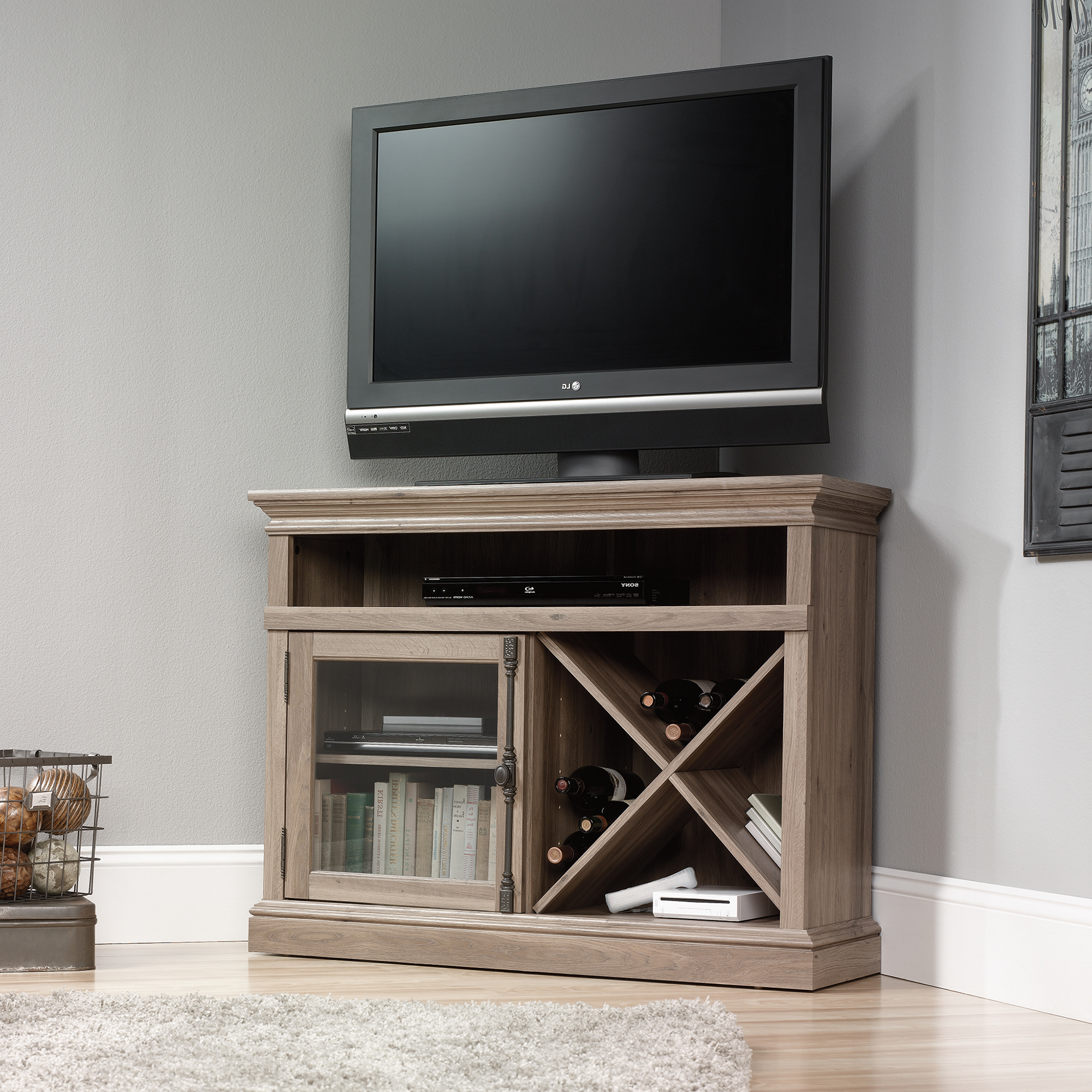 Grey Corner Tv Stands With Popular Barrister Lane (View 11 of 20)
