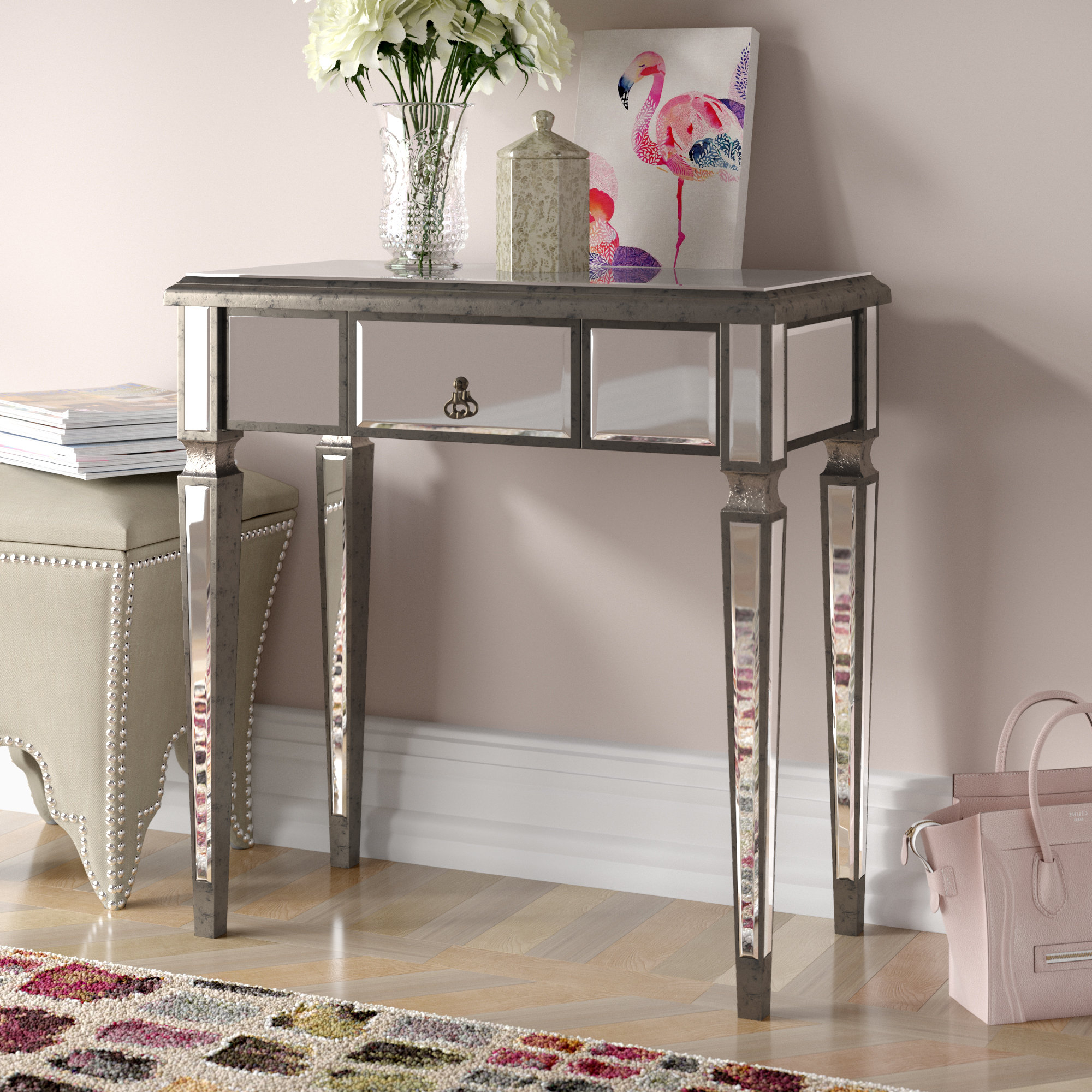 Grey Painted Console Table (View 2 of 20)