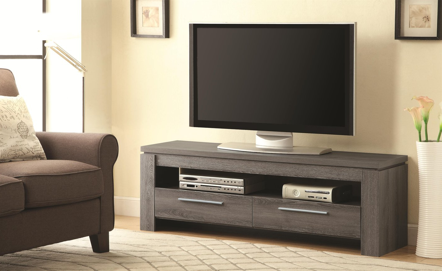 Grey Tv Stands With Regard To Popular Grey Wood Tv Stand – Steal A Sofa Furniture Outlet Los Angeles Ca (View 9 of 20)