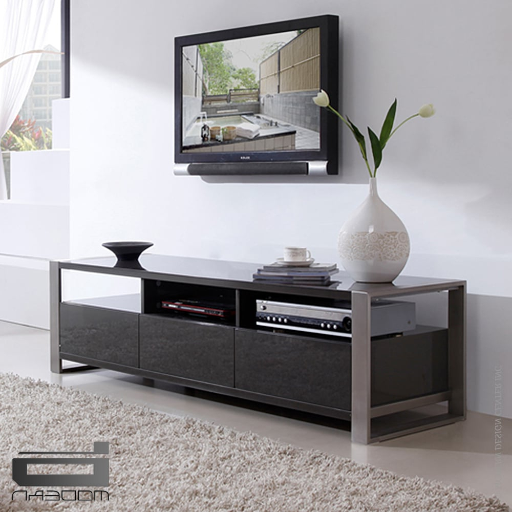 Grey Tv Stands Within Most Current Stylist Tv Standb Modern – Interiordesignerdecor (View 10 of 20)