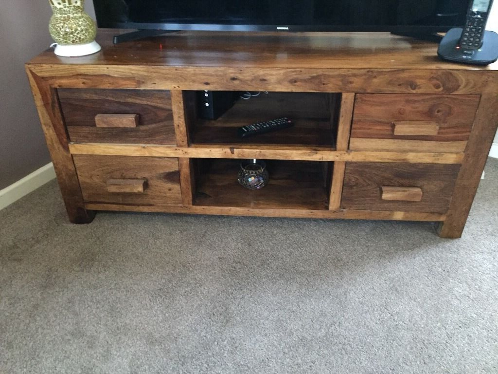 Gumtree With Recent Chunky Wood Tv Units (Gallery 6 of 20)