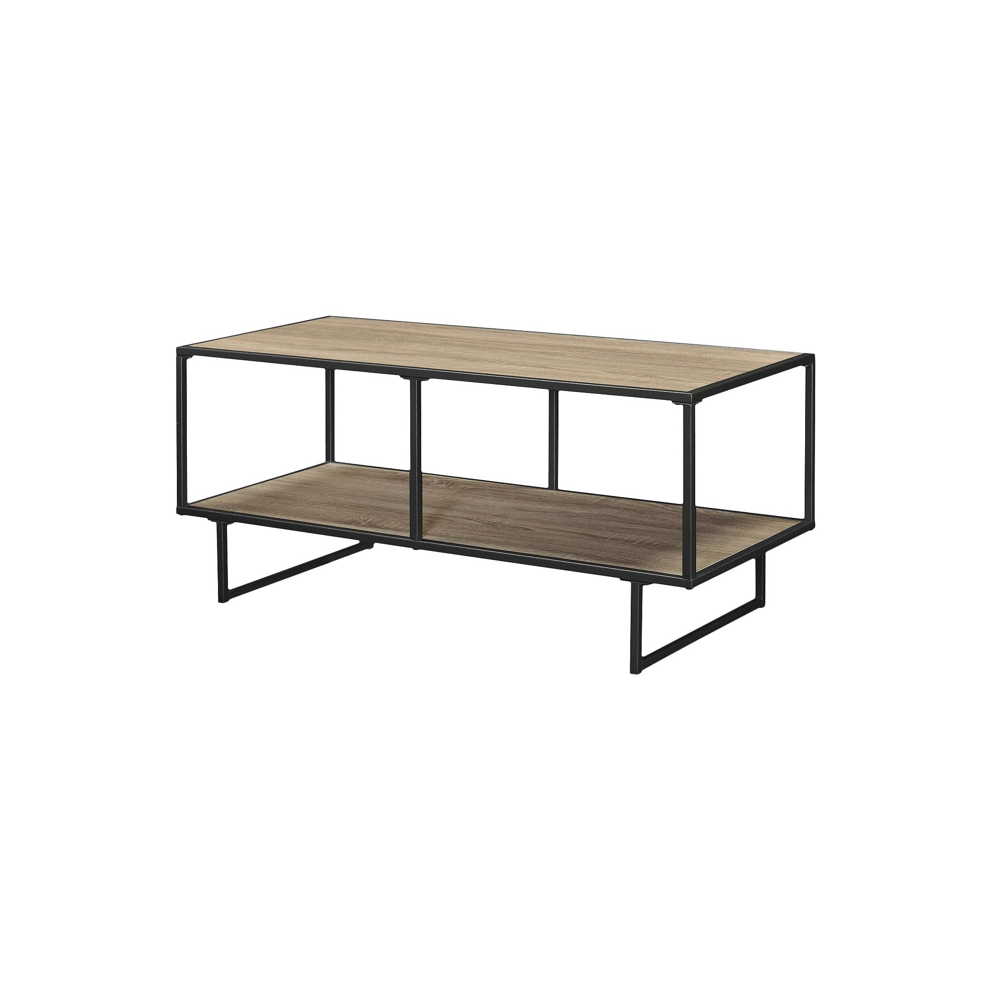Gunmetal Media Console Tables Intended For Popular Emmett 42 Tv Stand/coffee Table With Metal Frame – Sonoma Oak (View 2 of 20)