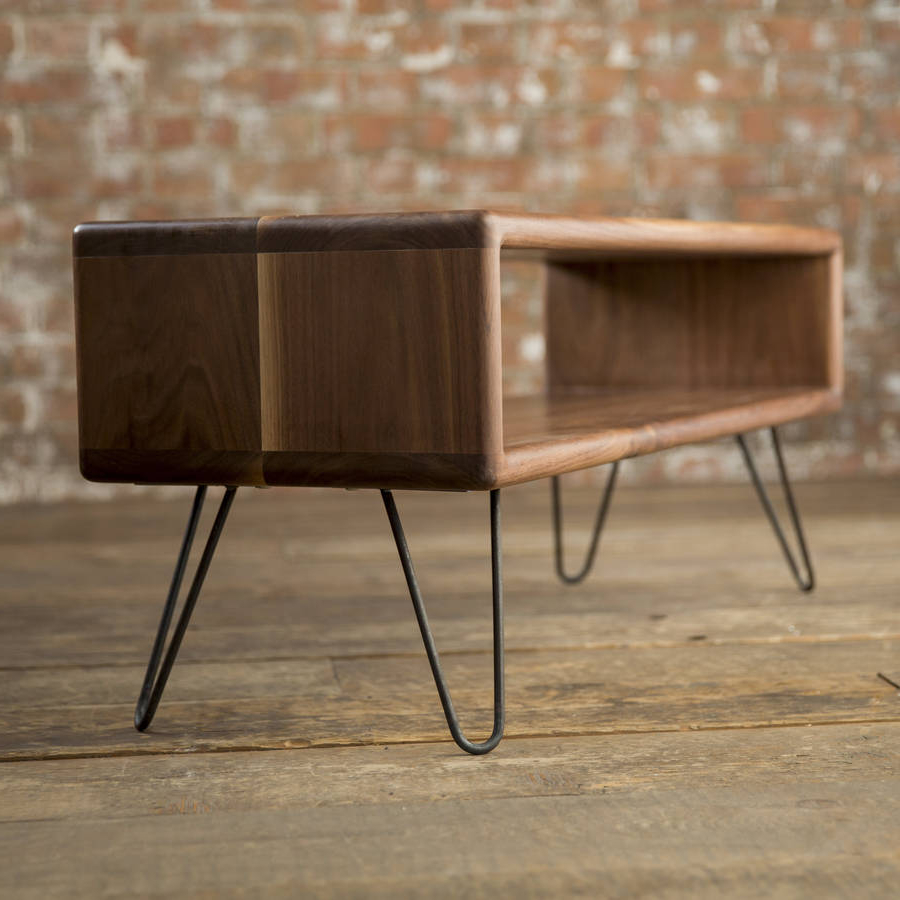 Hairpin Leg Tv Stands Intended For Well Known Walnut Midcentury Modern Hairpin Leg Tv Standbiggs & Quail (Gallery 5 of 20)