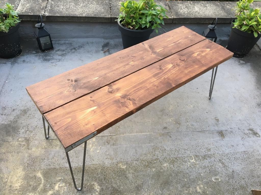 Hairpin Leg Tv Stands Regarding Favorite Vintage Rustic Bench/tv Stand/coffee Table/table Dimensions Bespoke (Gallery 15 of 20)