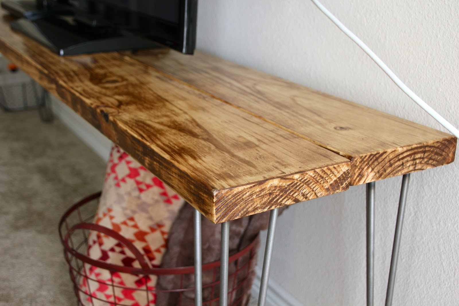Hairpin Leg Tv Stands Throughout Preferred Tv Stand / Bench / Any Table : A Tutorial (View 11 of 20)