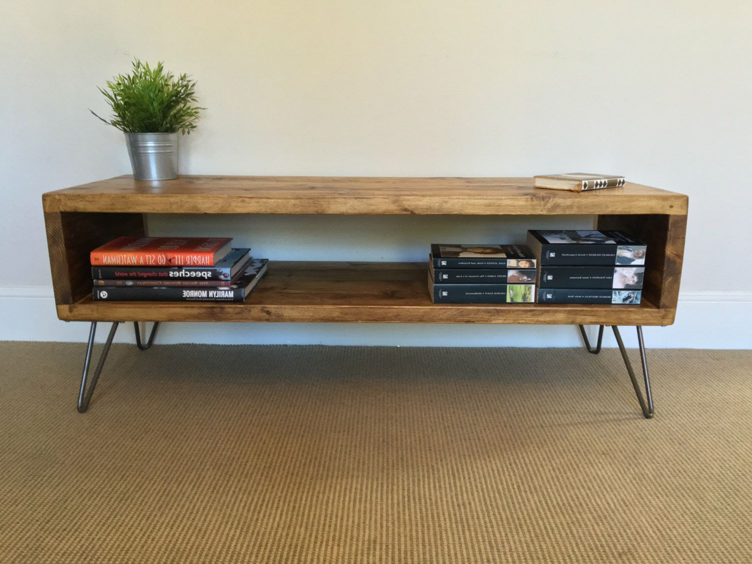 Hairpin Leg Tv Stands With Regard To Well Liked Rustic Wood Tv Stand (View 12 of 20)