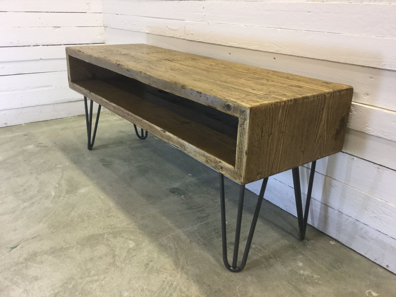 Hairpin Leg Tv Stands Within Most Up To Date Createdoxrusticfurniture 'rustic Industrial Hairpin Leg Scaffold (View 14 of 20)