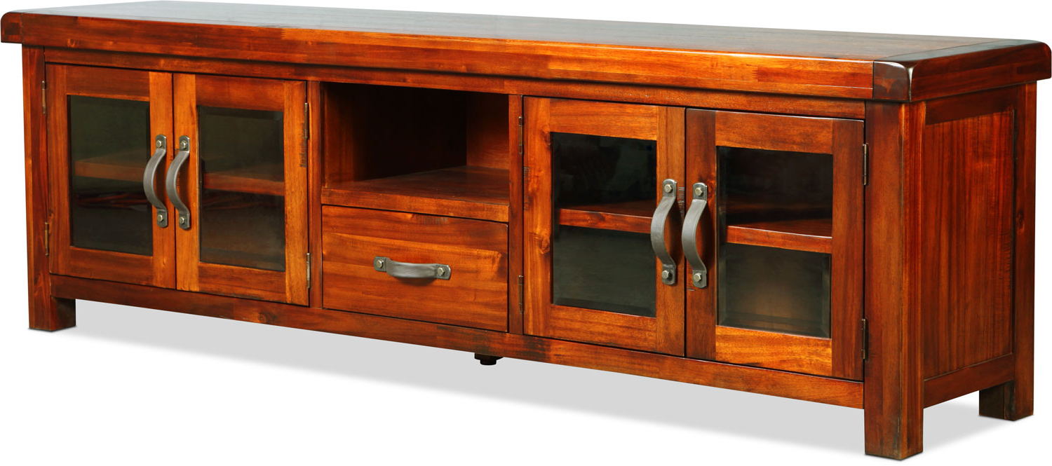 "Hardwood Tv Stands Intended For Popular Brisbane 84"" Tv Stand – Distressed Chestnut (Gallery 5 of 20)"