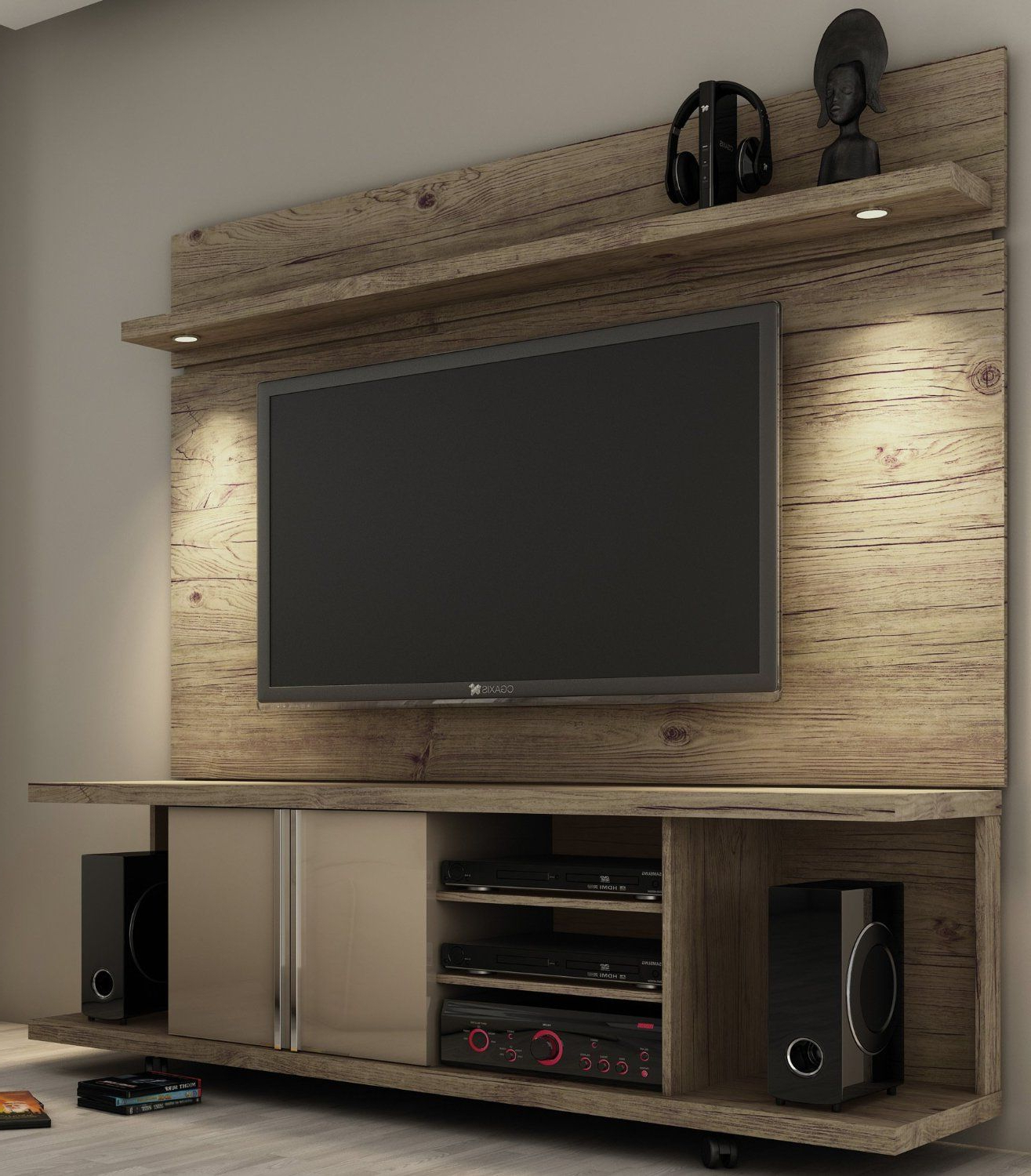 Have Pops Construct Something Like This For Me With Reclaimed Wood In Current Kenzie 60 Inch Open Display Tv Stands (Gallery 19 of 20)