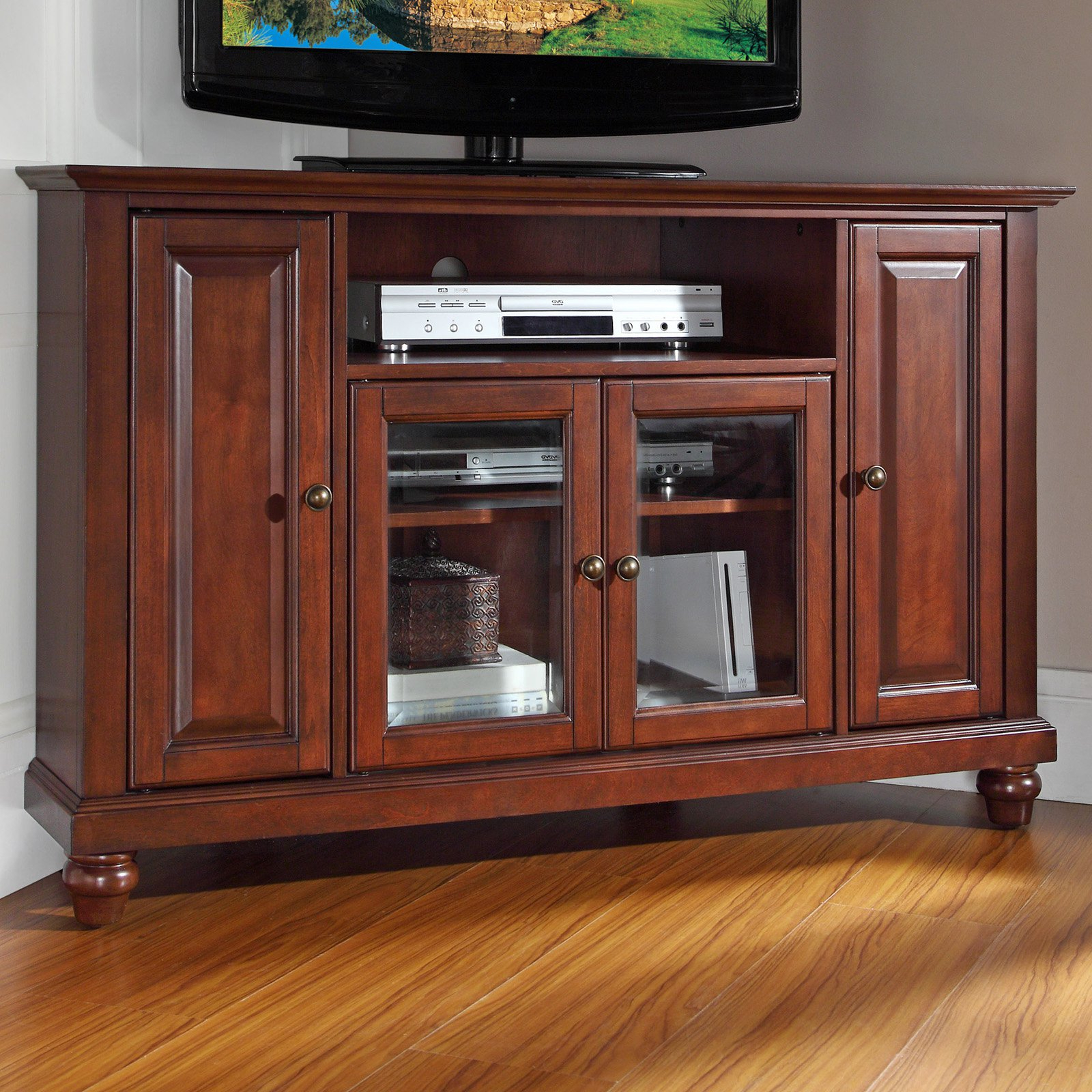 Hayneedle Within Preferred Mahogany Corner Tv Cabinets (View 7 of 20)