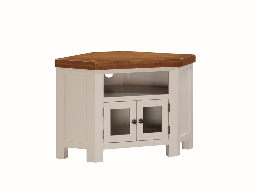 Heritage Solid White Corner Tv Unit (Gallery 17 of 20)