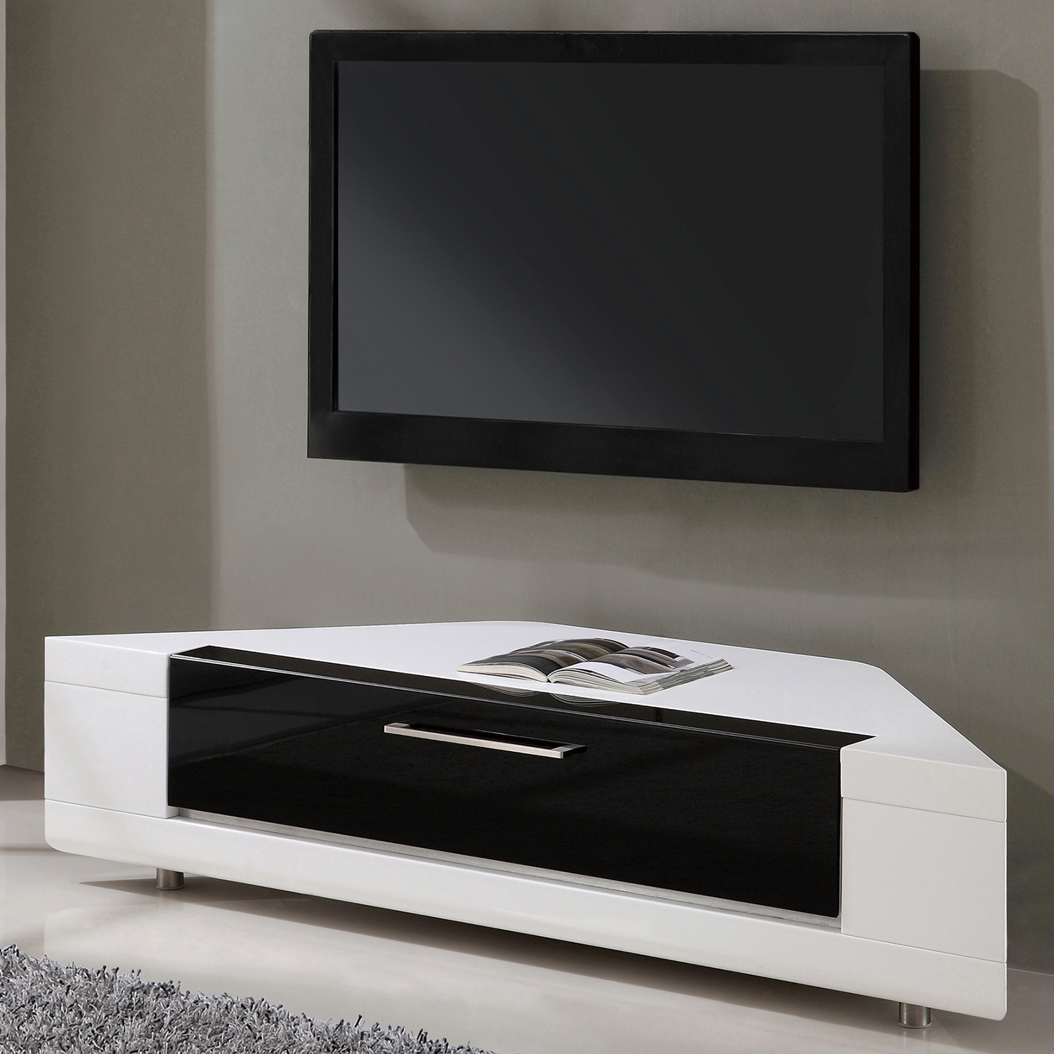 High Gloss Corner Tv Units With Popular High Gloss Corner Tv Stand – Corner Designs (View 6 of 20)