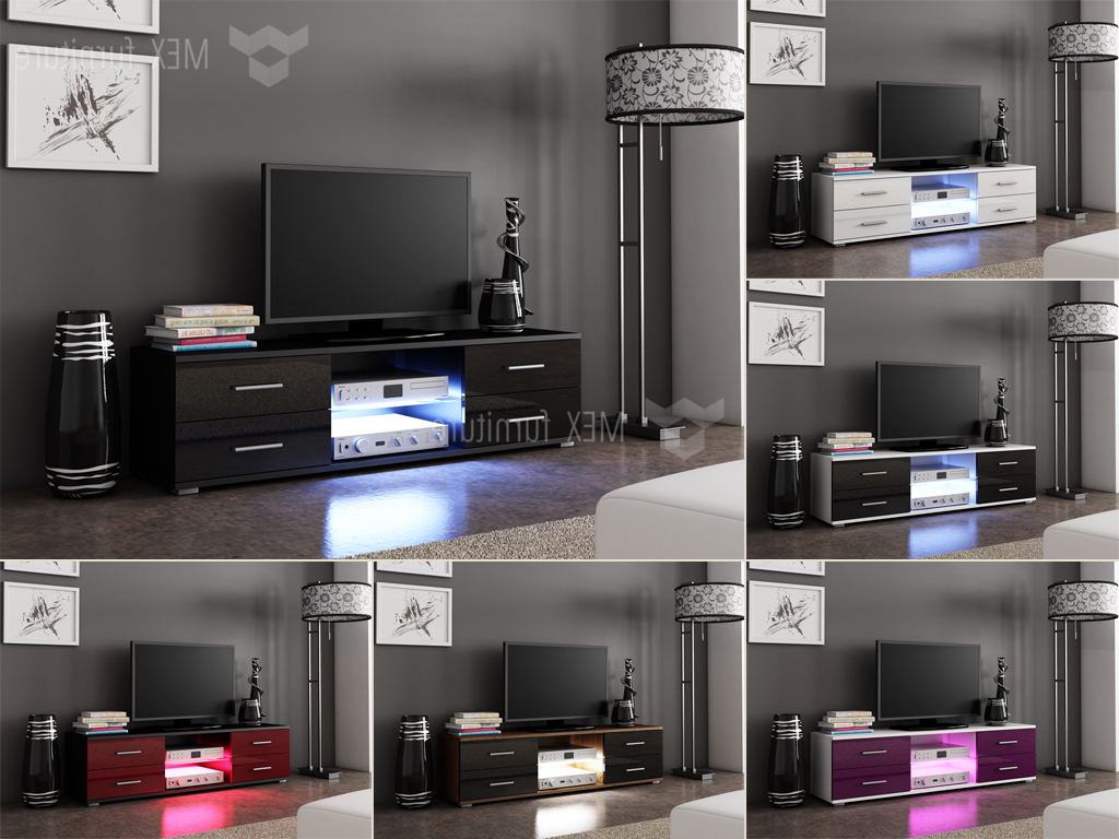 High Gloss Tv Cabinets, Unit – Mex Furniture Throughout Favorite 150Cm Tv Units (View 9 of 20)
