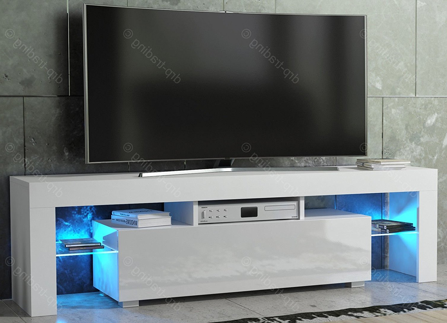 High Gloss White Tv Stands Within Most Popular Hot Sale !!! Modern Popular White High Gloss Lcd Mdf Tv Stand – Buy (View 5 of 20)