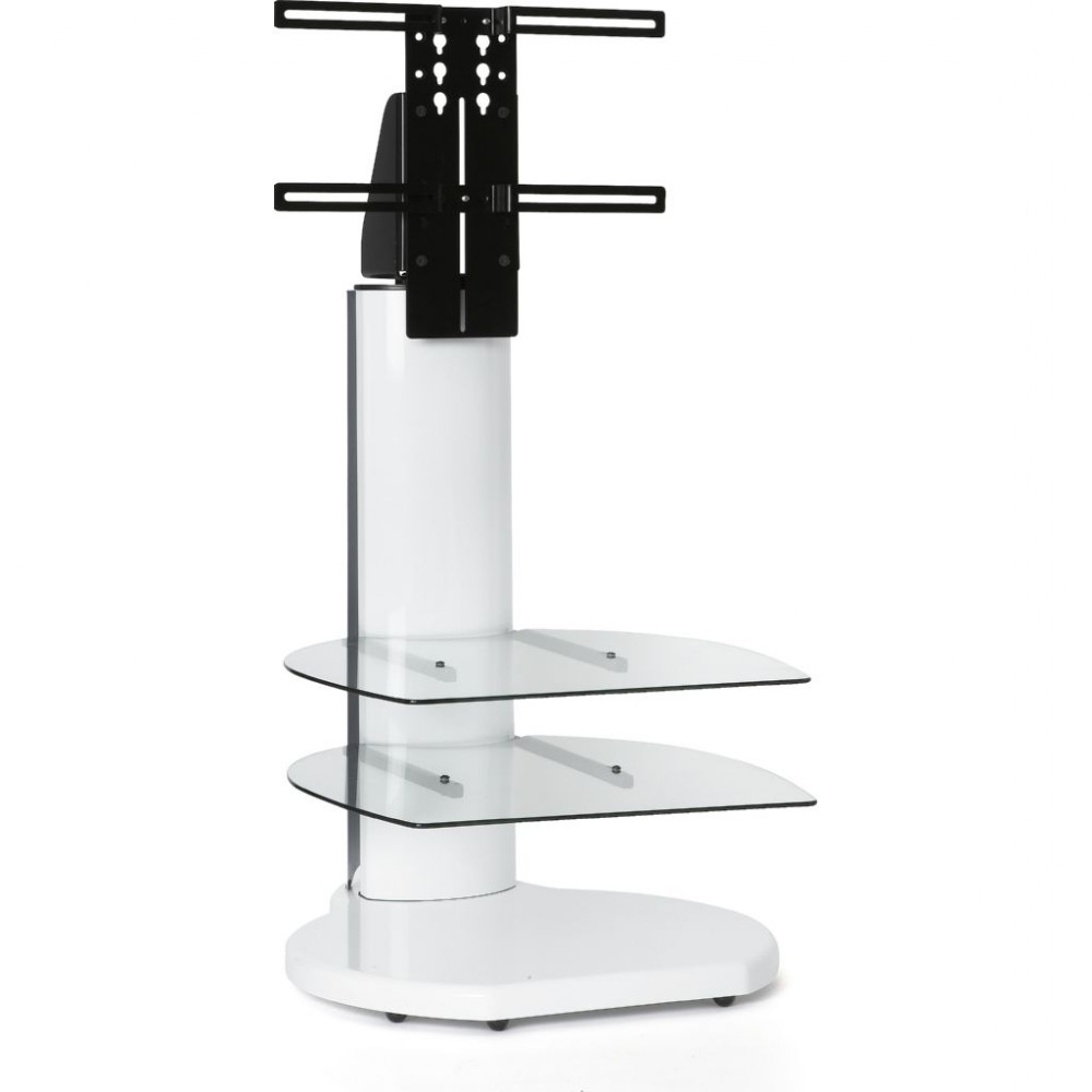 High Led Flatscreen Tv Stand Tall Mount Storage Shelves Regarding Most Recent White Glass Tv Stands (View 10 of 20)