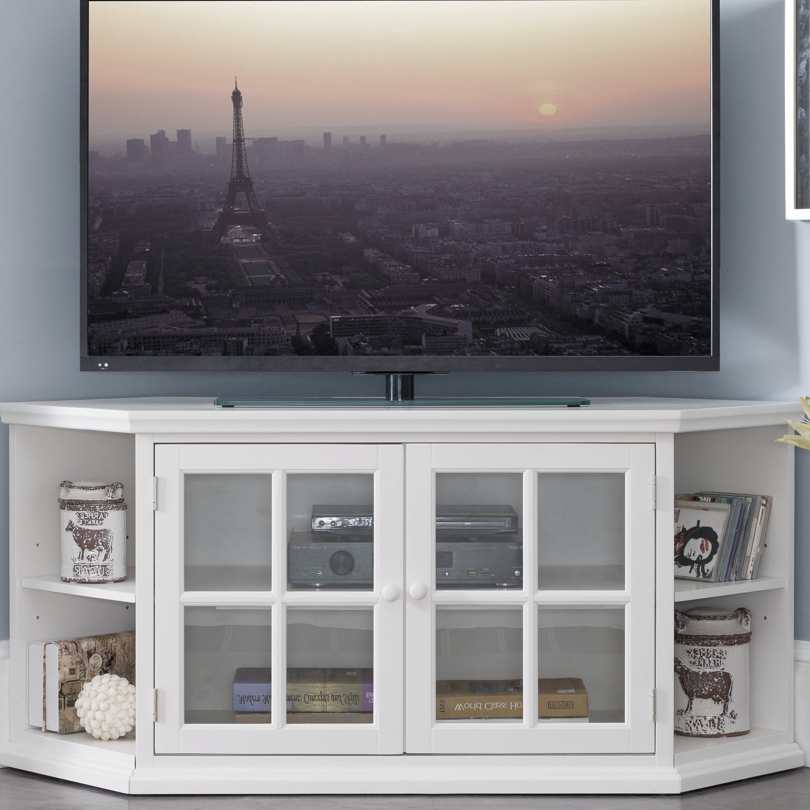 """Highland Dunes Galles Corner Tv Stand For Tvs Up To 65"""" & Reviews Intended For Fashionable Caden 63 Inch Tv Stands (View 8 of 20)"""