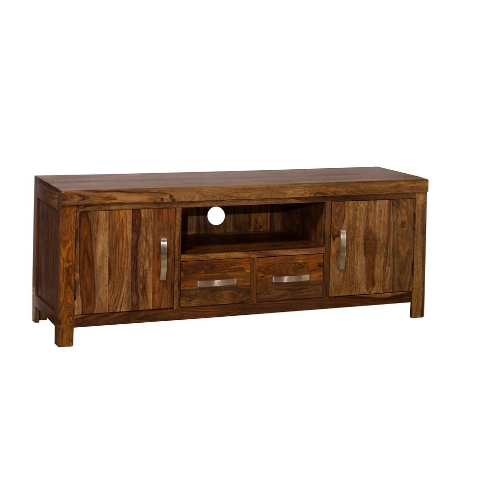 Hillsdale Furniture Emerson Natural Sheesham Entertainment Center Throughout Recent Emerson Tv Stands (View 14 of 20)