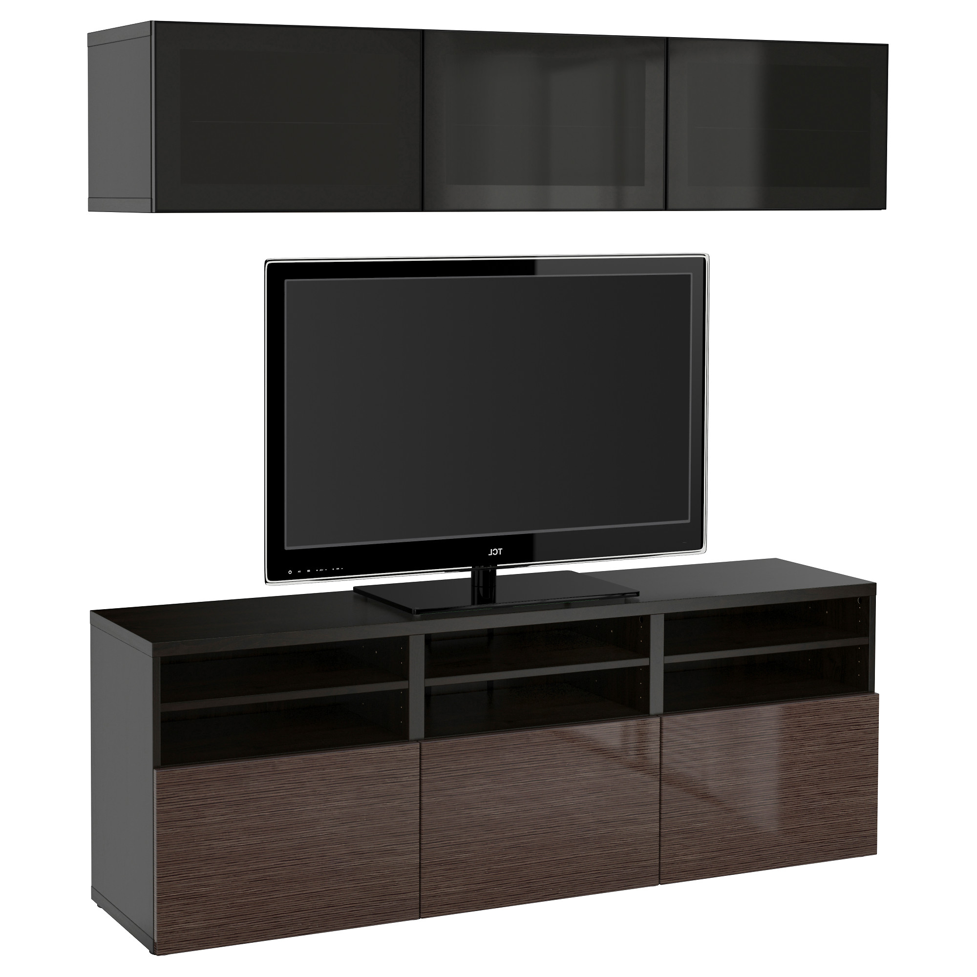 Hokku Tv Stands Regarding Well Known Admirable Hokku Design Tv Stand With Black Coloue And Brown Door (View 8 of 20)
