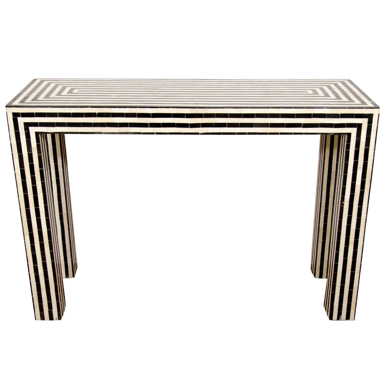 Home Decor Inside Black And White Inlay Console Tables (Gallery 1 of 20)