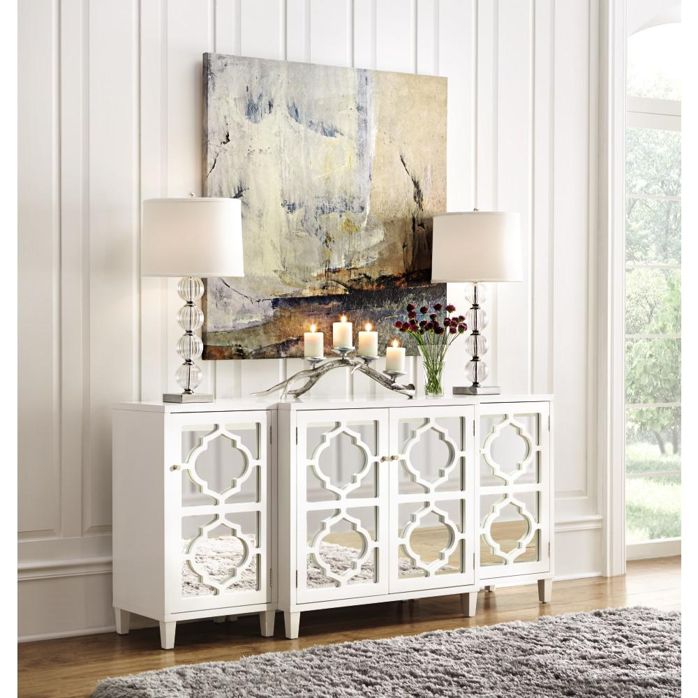 Home Decorators Collection Reflections White Console Table In 2019 With Regard To Trendy Mirror Tv Cabinets (Gallery 11 of 20)