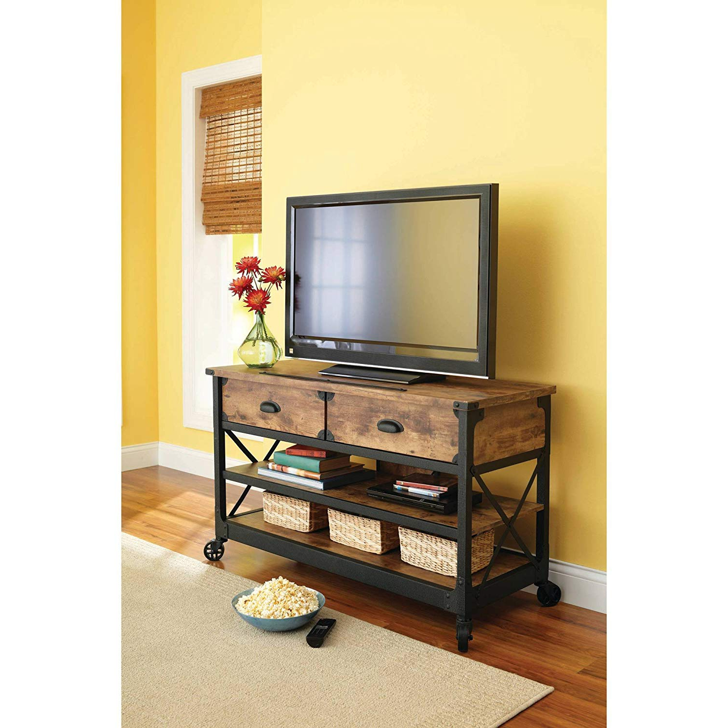 Home Design & Gardening: Marvelous Rustic Pine Tv Stand As If Amazon Throughout Fashionable Pine Wood Tv Stands (View 16 of 20)
