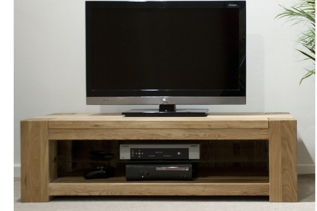Homestyle Trend Oak Standard Plasma Tv Unit From The Bed Station With Latest Oak Widescreen Tv Units (Gallery 14 of 20)