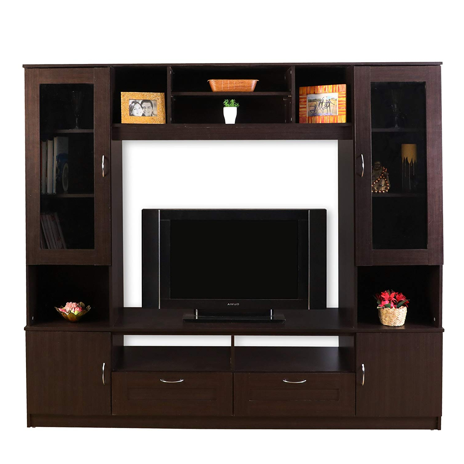 Hometown Missouri Wall Unit (Textured Finish, Walnut): Amazon (View 4 of 20)