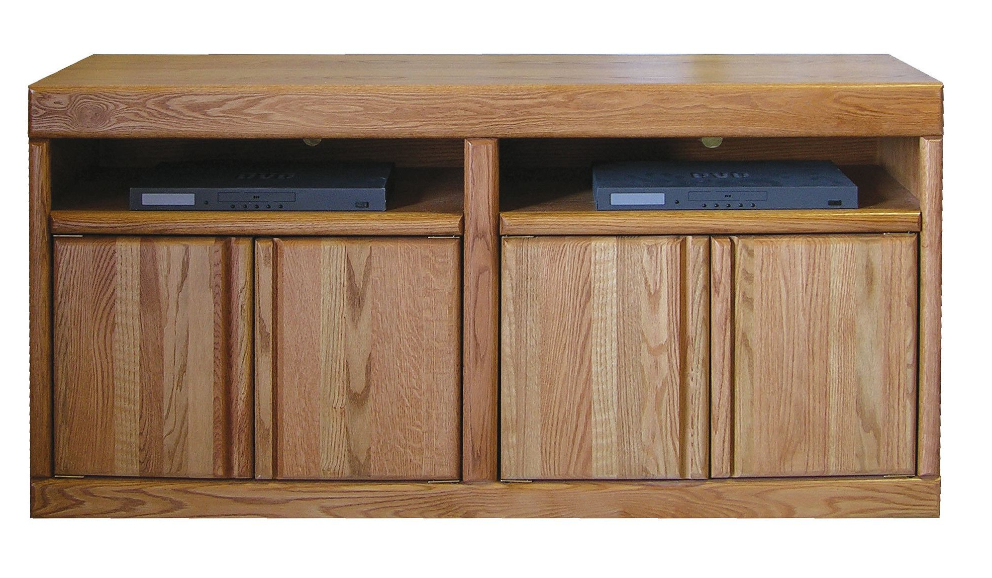 "Honey Oak Tv Stands Intended For 2017 Bullnose 60"" Tv Stand (View 8 of 20)"