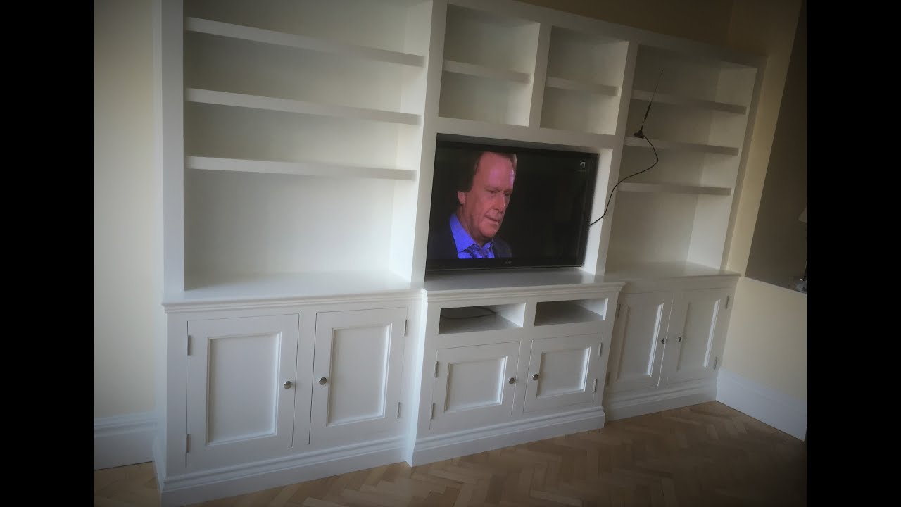 How To Build Tv Wall Cabinets – Youtube Inside Popular Tv Wall Cabinets (View 17 of 20)