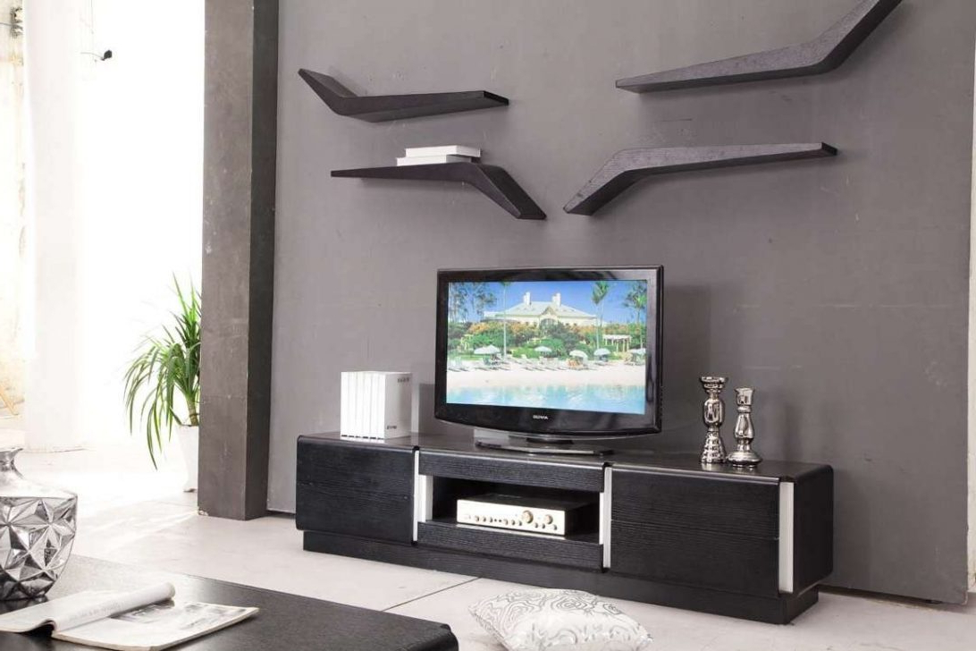 How To Decorate Around A Tv Stand Ideas Diy Unique Wall Mounted Flat With Well Known Stylish Tv Cabinets (View 5 of 20)