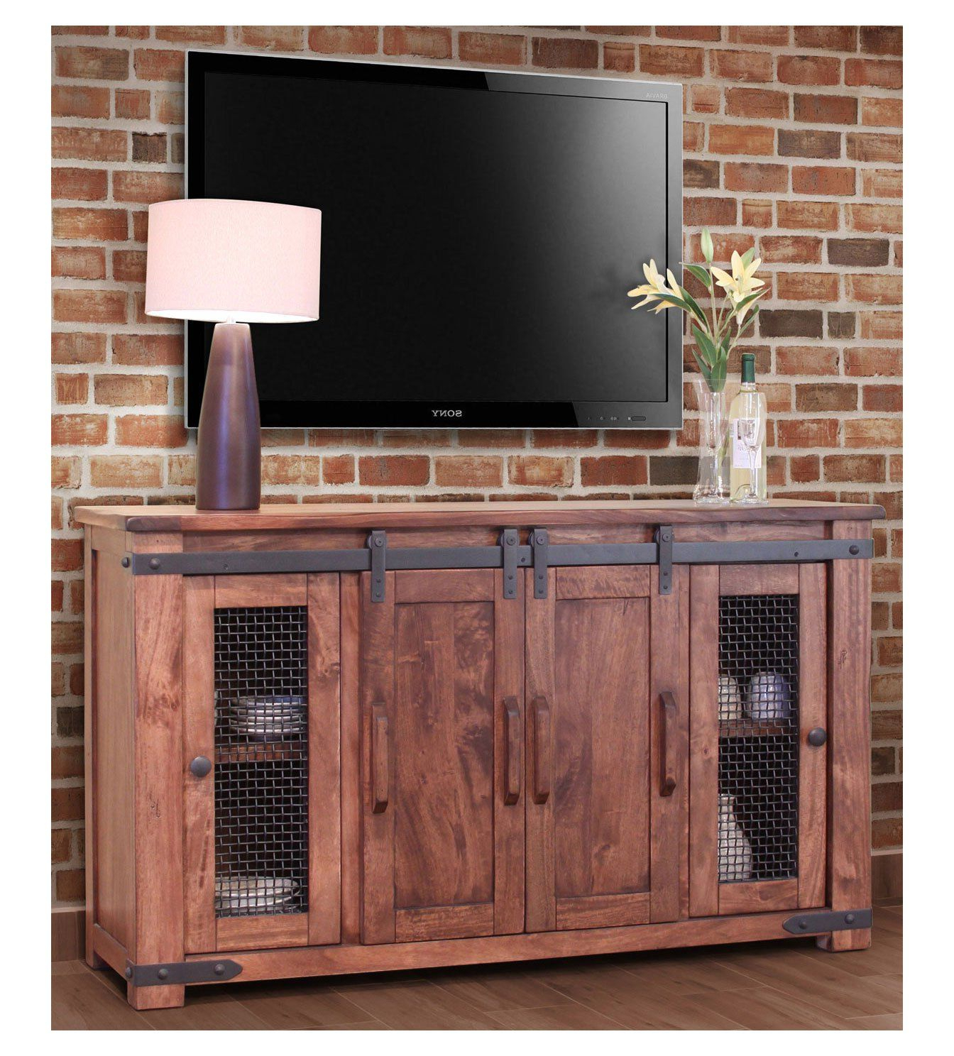 How To Decorate With A Pine Tv Stand (View 7 of 20)