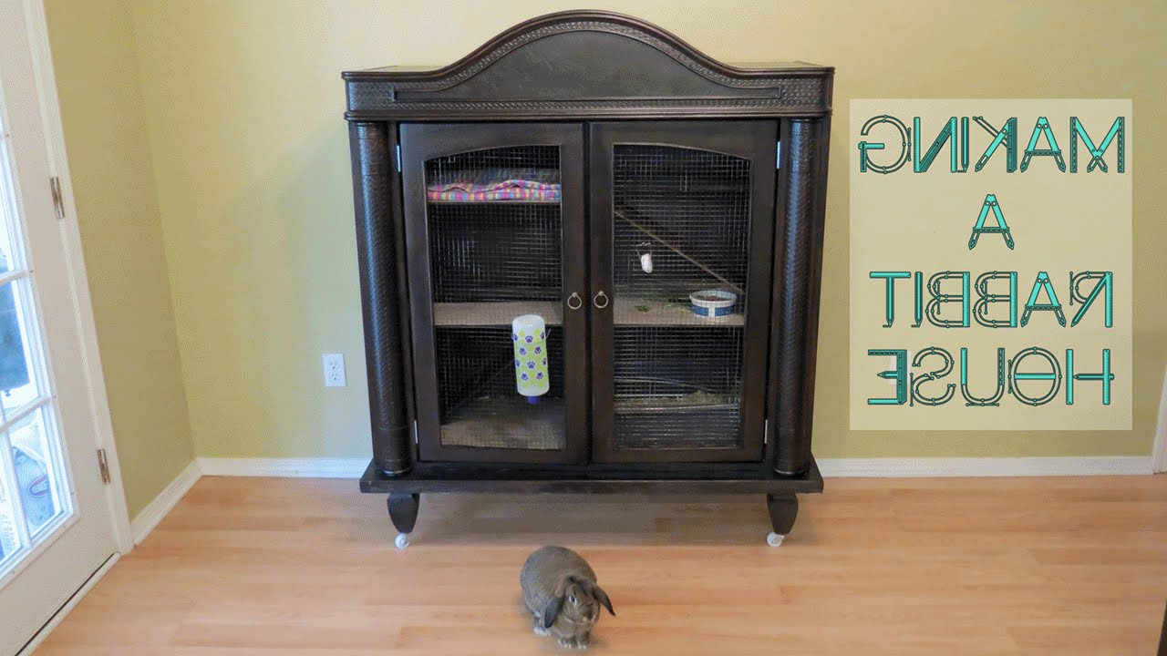 How To Make A Rabbit House From A Tv Armoire Cabinet With Regard To Widely Used Tv Hutch Cabinets (Gallery 16 of 20)