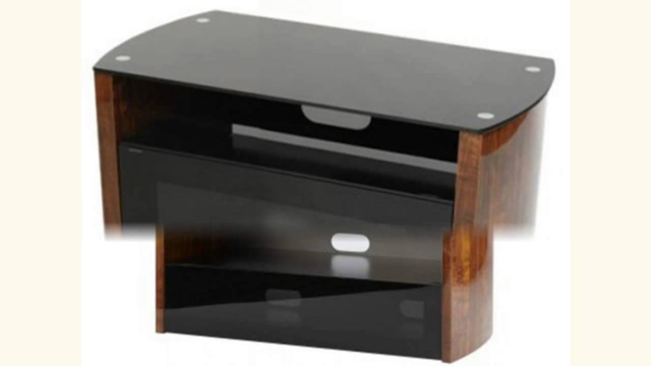 Iconic Acacia 2012 Walnut And Black Tv Stand – Youtube Inside Favorite Iconic Tv Stands (Gallery 6 of 20)