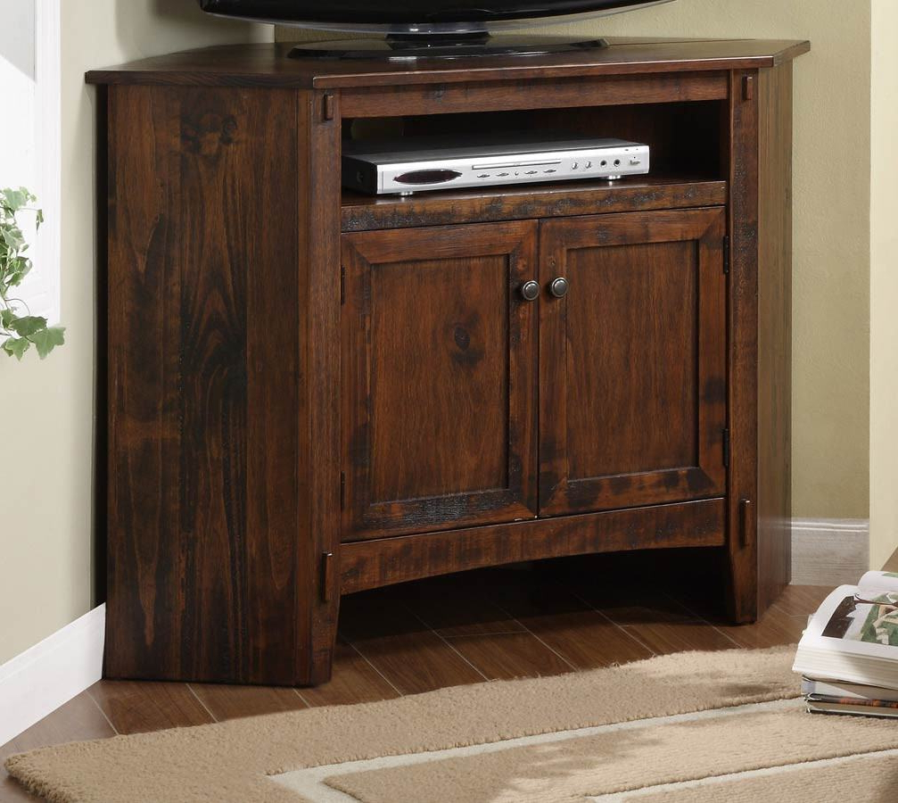 Ideal Powell Rustic Corner Tv Stand 634 954 Rustic Corner Tv Stand Throughout Well Liked Rustic Corner Tv Cabinets (Gallery 8 of 20)