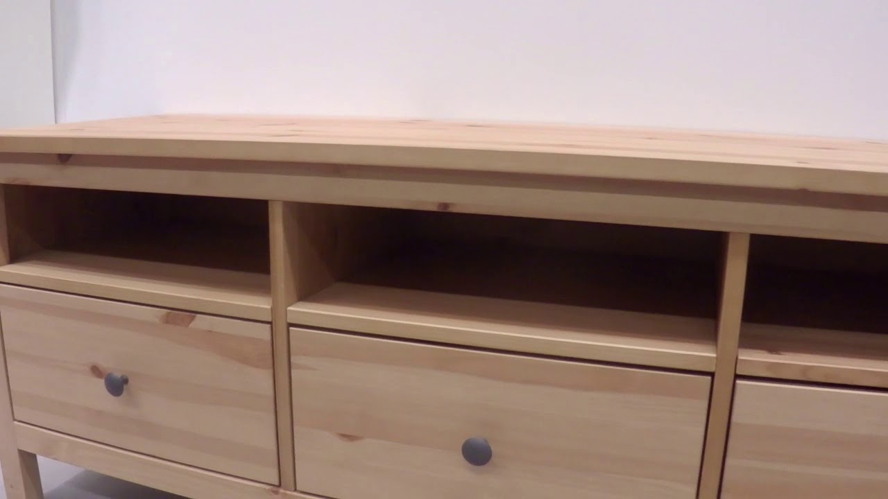 Ikea Hemnes Tv Unit – Light Brown – Youtube Regarding Latest Light Colored Tv Stands (View 7 of 20)