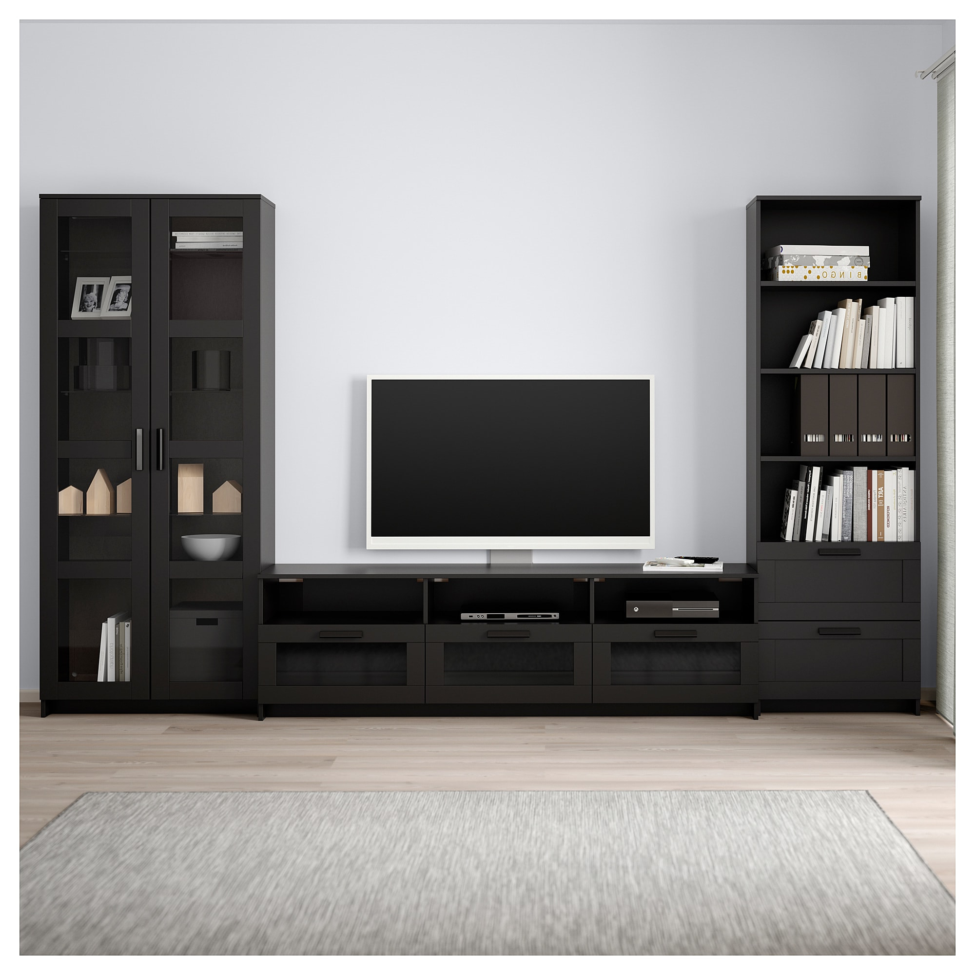 Ikea Throughout Popular Tv Cabinets With Glass Doors (Gallery 14 of 20)