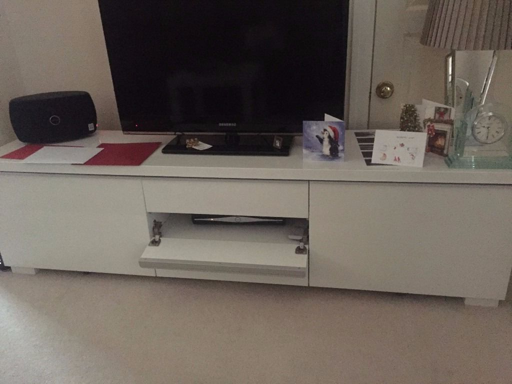 In Copthorne, West Intended For Well Known Ikea White Gloss Tv Units (Gallery 2 of 20)