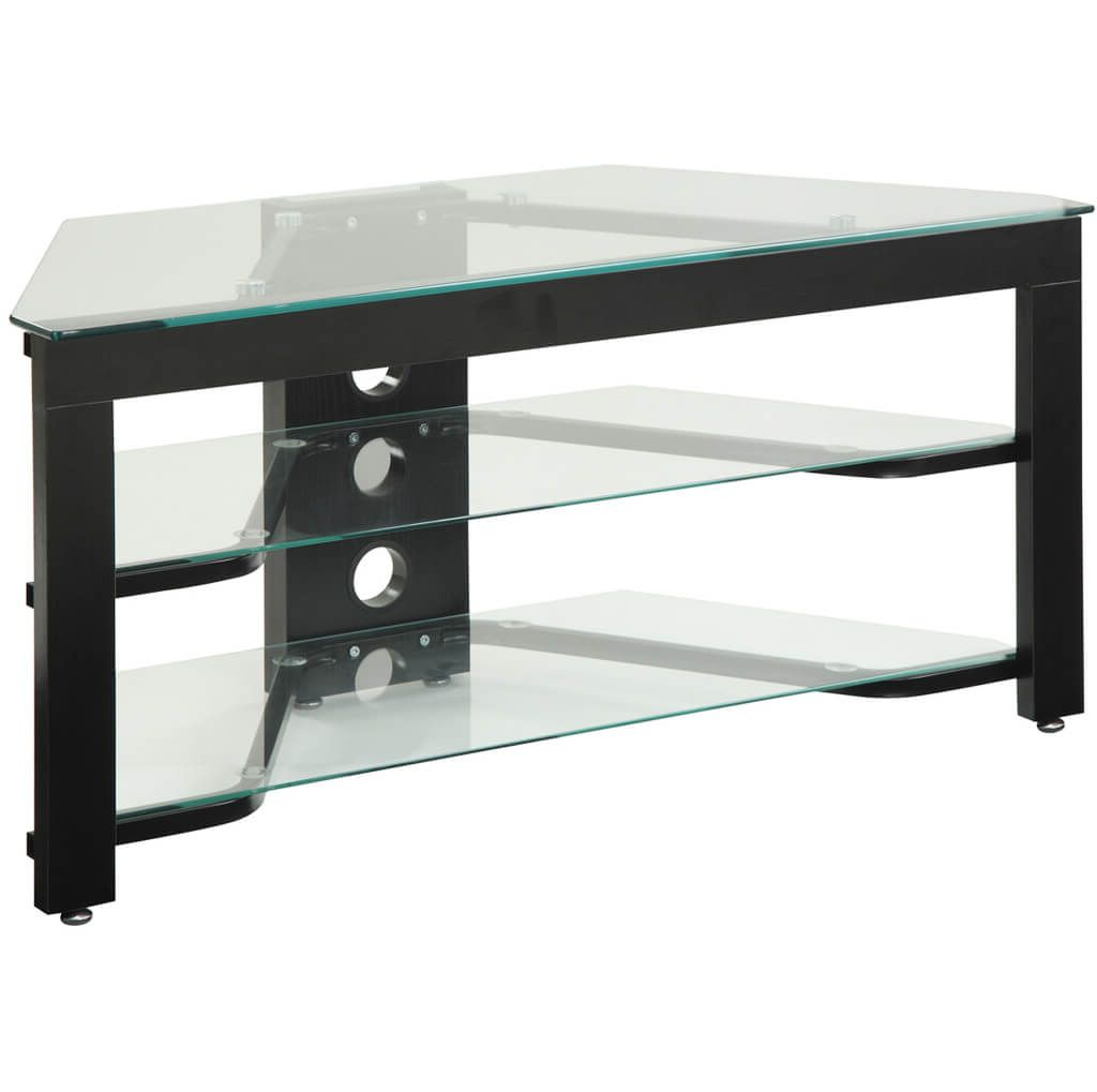 Industrial Corner Tv Stands In Well Known Furniture: Simple Industrial Style Tv Stand With Glass Paneled (Gallery 12 of 20)