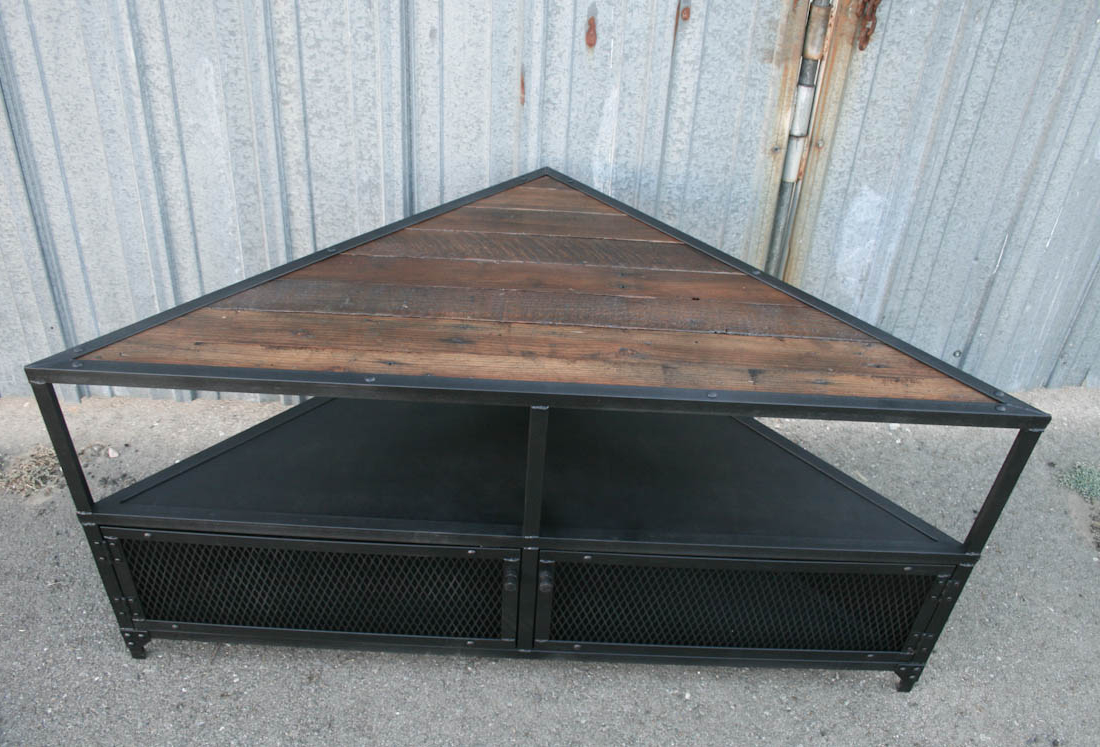 Industrial Corner Tv Stands With Current Combine  (View 10 of 20)