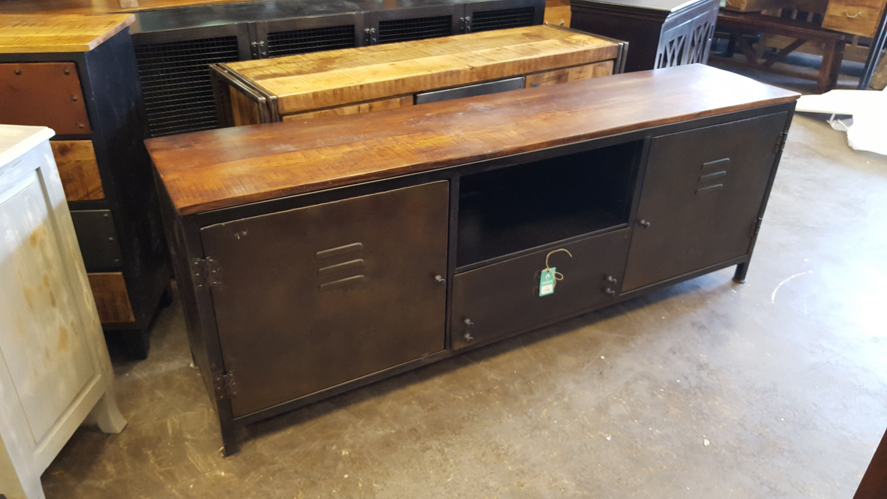 Industrial T.v. Stand – Nadeau Memphis In Most Current Industrial Tv Cabinets (Gallery 5 of 20)