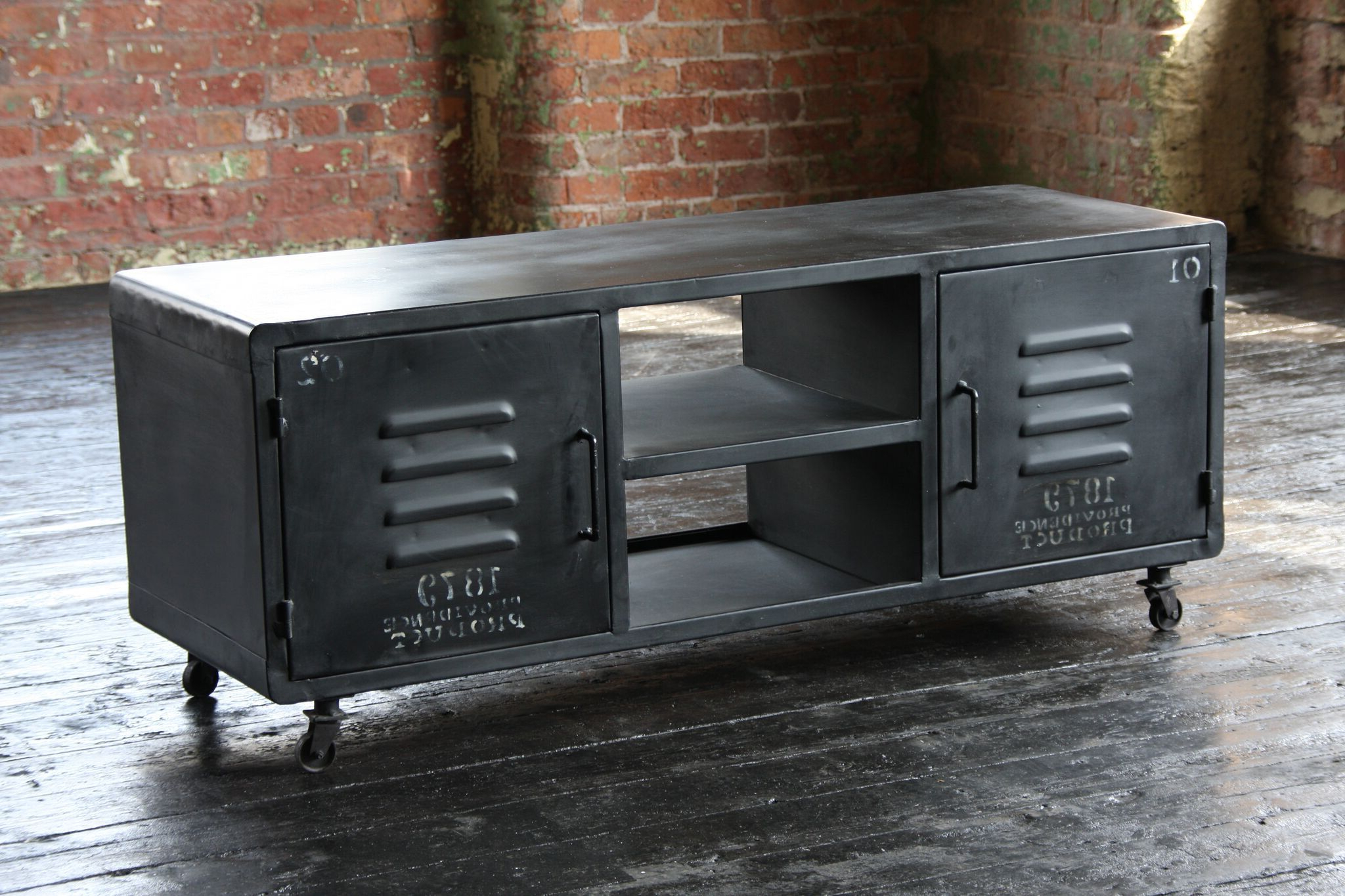 Industrial Tv Cabinets With Recent The Entertainer Industrial Tv Cabinet (View 6 of 20)