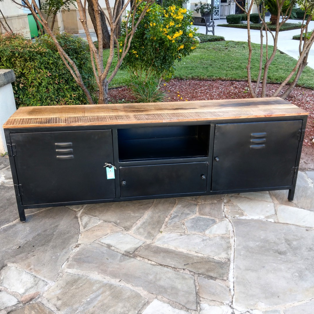 Industrial Tv Stands Pertaining To Trendy Industrial T.v (View 6 of 20)