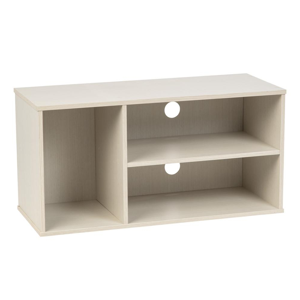 Iris Waku Series White Tv Stand 596253 – The Home Depot In Newest Long White Tv Stands (View 8 of 20)