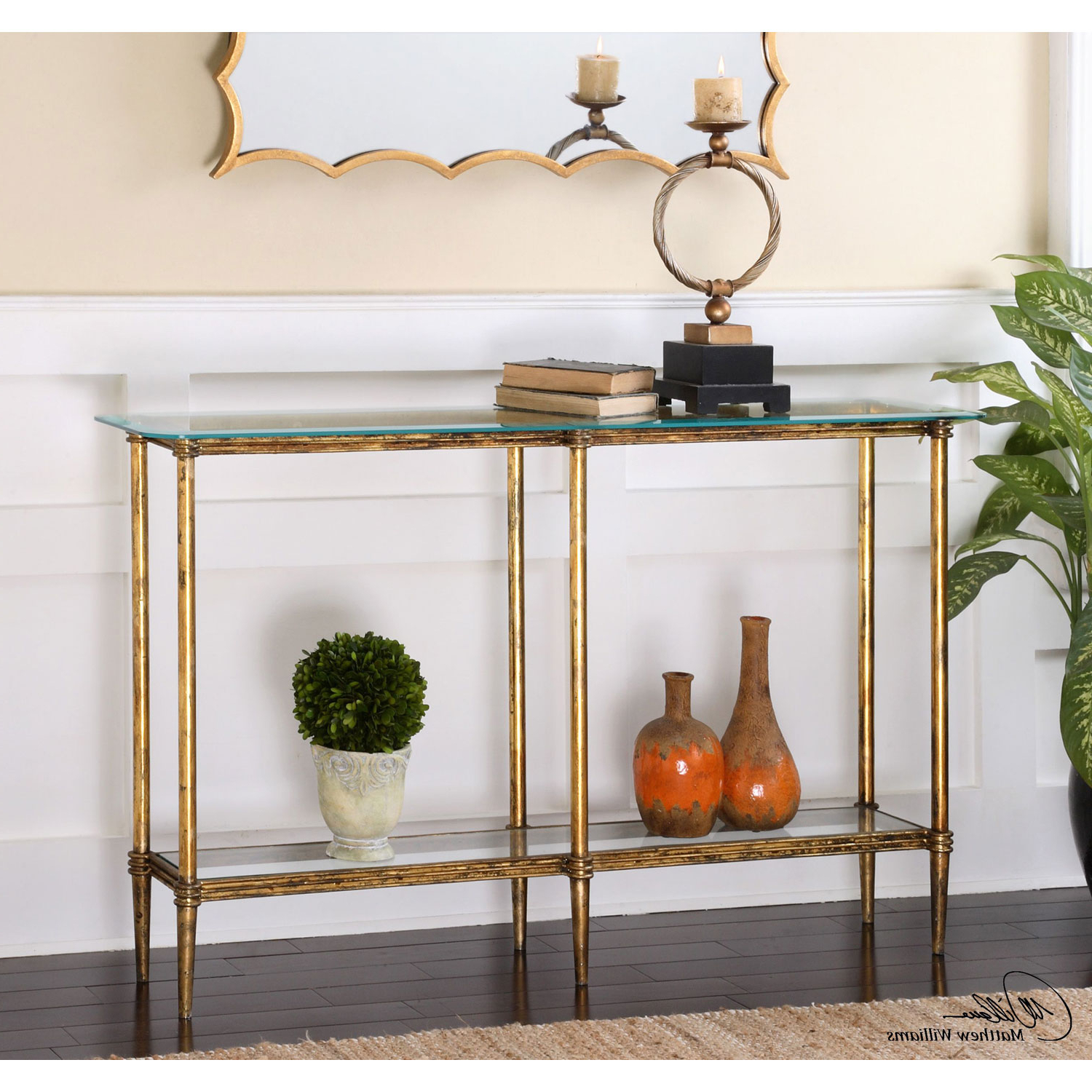 Jacque Console Tables With Regard To Popular Uttermost Elenio Bright Gold Console Table 24421 (Gallery 10 of 20)